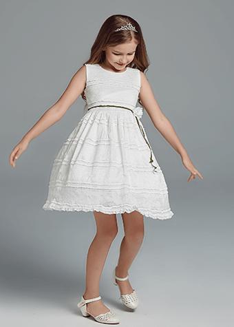 Cotton flower girl dresses kids girl casual cotton dress