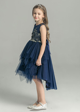 Cocktail dress party princess pattern dress children layer dress