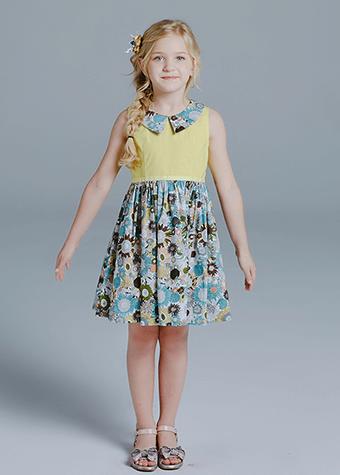 custom design children's wear cheap baby girl clothes summer daily wear dress