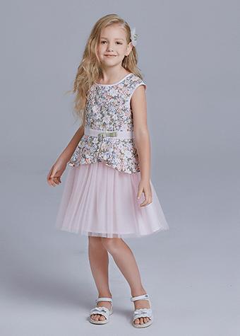 Floral Print Cotton Children Clothing Little Girl Daily Wear Princess Dress