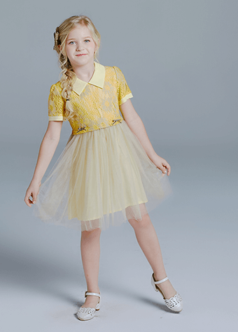 Pretty Girls Summer New Daily Wear Elegant Kids Clothing Casual Dresses