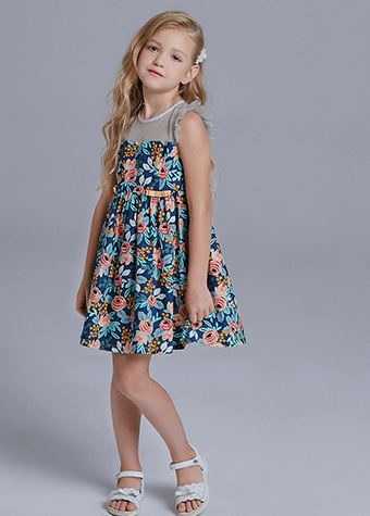 vestidos plus size kids casual dress for girl