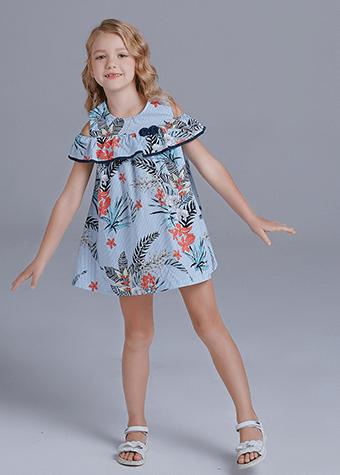 Casual dresses new design girl children bulk skirts beach dress