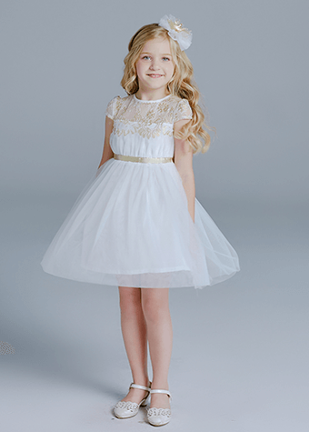 Support free customers design little girls white pageant dress