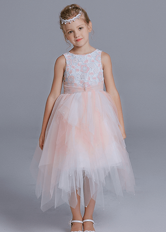 Bulk wholesale kids clothing fancy items pink and white flutters bowknot frock designs dress