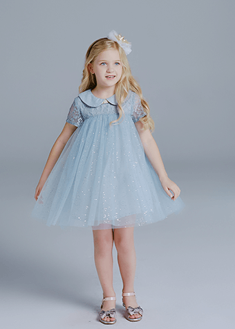 Baby Girls Lace Top Tulle Daily Wear Cotton Lining Summer Princess Dresses