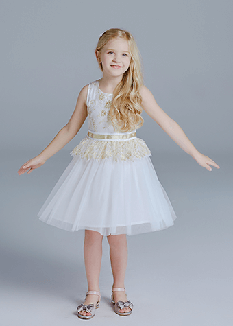 summer kid clothes girl lace embroidery dress clothes