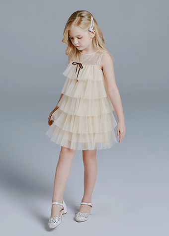 OEM wholesale one piece kids formal and casual wear dress guangzhou