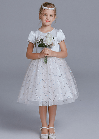 Modern Off White Toddler Flower Girl Dresses