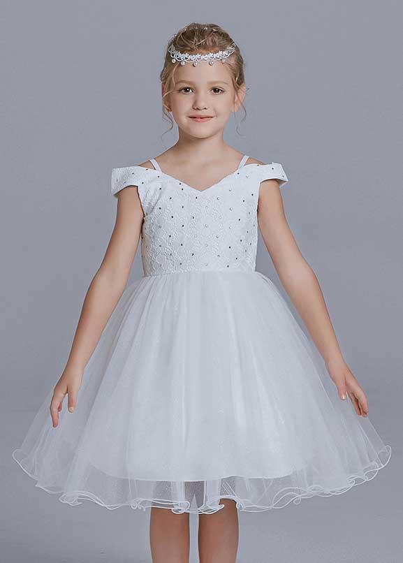 Elegant Holy White Communion Dresses