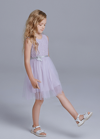 Wholesale summer baby flower Princess Lace Dresses Girls Dress Kids short Sleeve Soft Casual Style