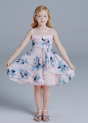 hot selling big bow satin girls formal infant dress baby girl clothes