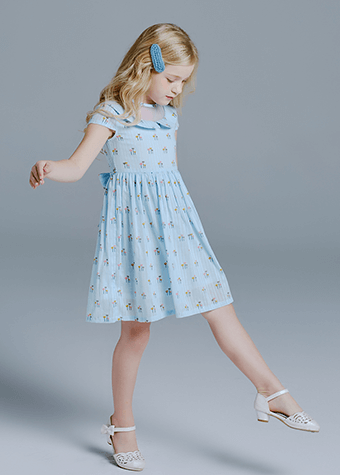 Summer Children Clothes Cotton Fabric Casual Dresses For Kids