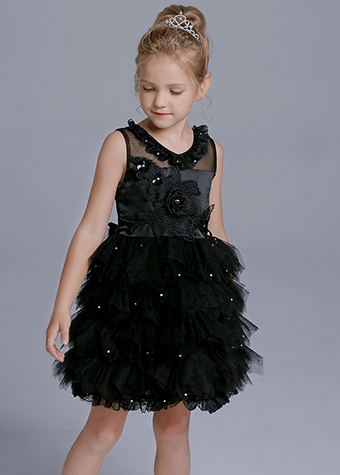 Beautiful Simple Color Teenage Skirts Baby Girls Tulle Tutu Dress
