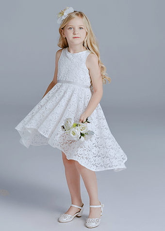 Our designs kids floral maxi skirt long pure white dress