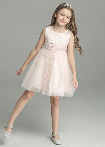 Wholesale Maxi Western Kids India Girls Pink Children Girl Princess Dress