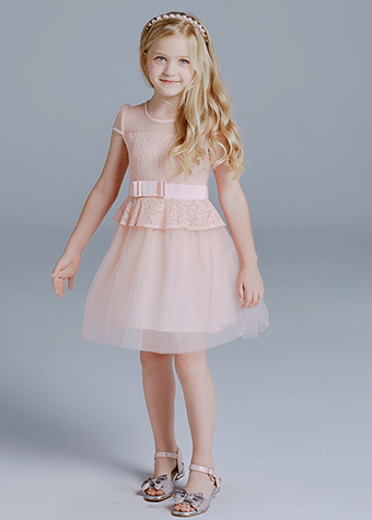 Children Clothing Dress Lace Top Pink Tulle Skirt Kids Princess Dresses