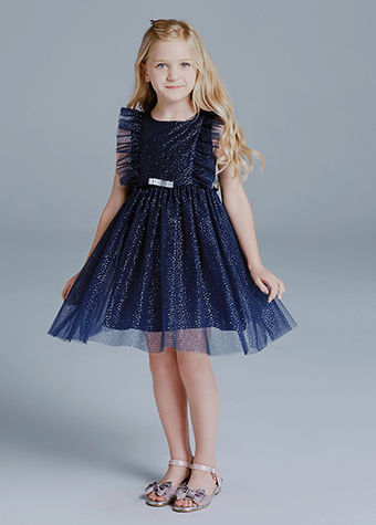 Anti-Wrinkle Feature Floral Toddlers Age Group Kids Dresses Clothing