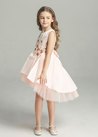 Young Rose Flower Girl Dresses For 10 Years Old