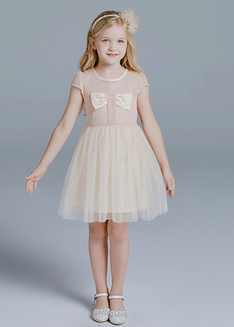 New Arrivals Cotton Floral Print Top Tulle Skirt Casual Baby Girls Dresses