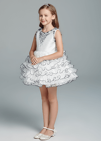The most Beautiful Navy Blue Children Flower Girl Dress
