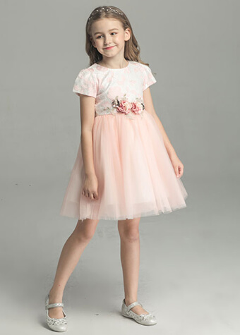 China Supplier Floral Maxi Dress Children Girl 7th Birthday Party Dresses