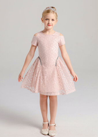 2020 new styles short sleeve frock dress girls birthday outfits