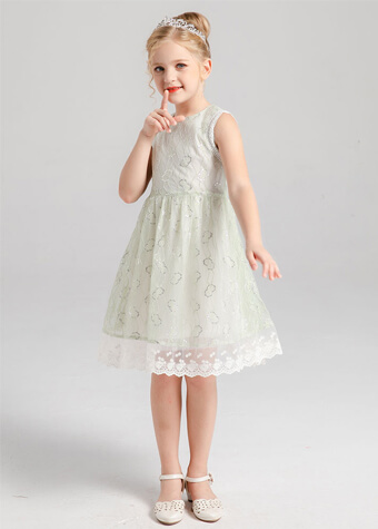 Europe hot sale fashion sleeveless romper flower dress kid girls dress baby girl clothes