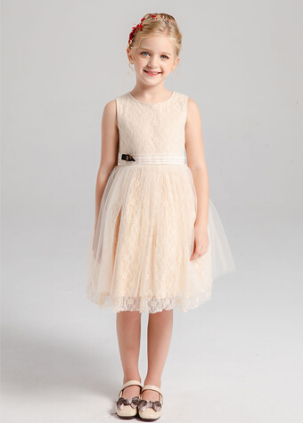Children garment manufacturer wholesale hot sale light yellow short girl dress