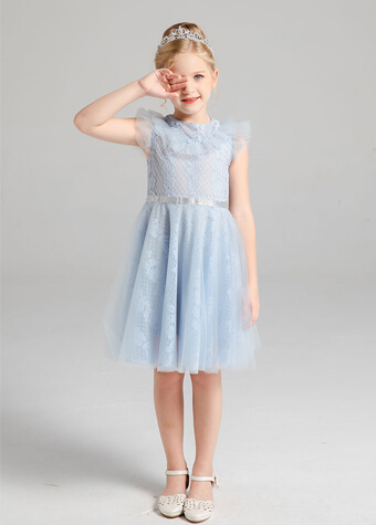 hot sale children dress baby girl tulle lace princess party dress