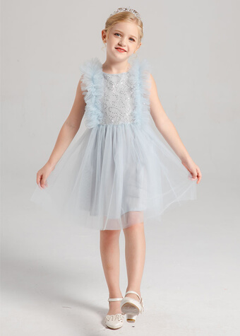 Cheap Lace AND Mesh Skirt Junior Children Clothes Holiday Party Girl Dresses