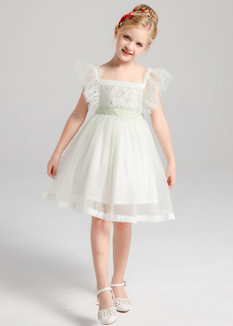 Little Girls Wedding Party Wear Kids Fashion Princess Flower Girl Dress